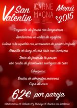 "Cartel para Karne Magna - ""San valentín 2015"""
